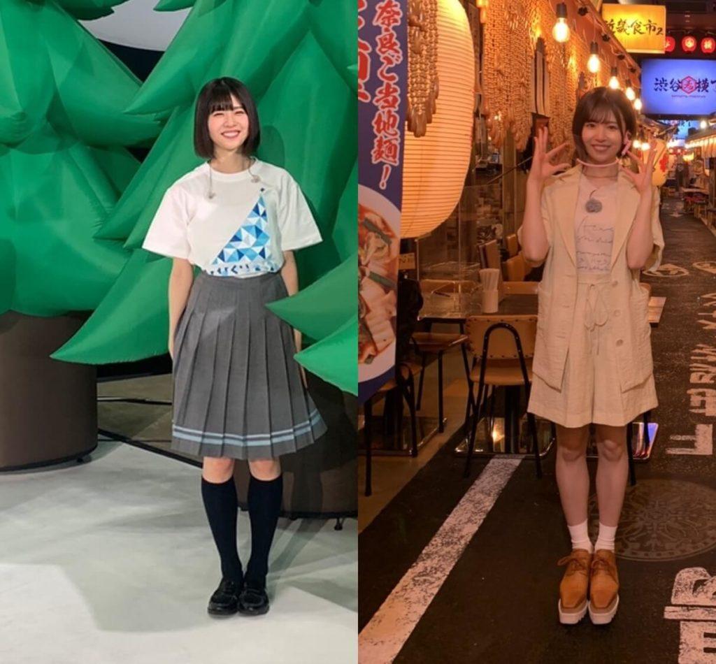 復帰前後の松田好花の体型比較