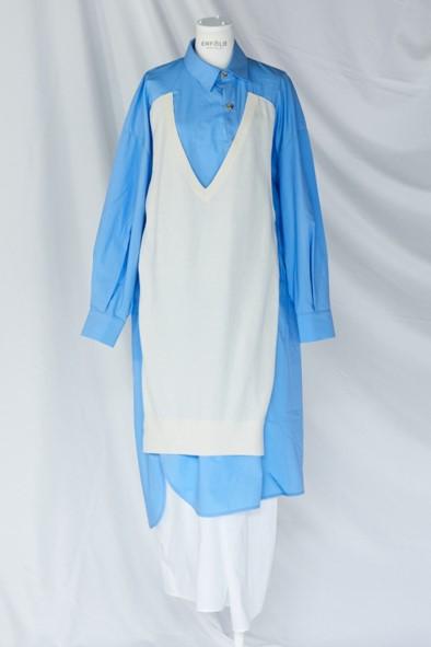 ENFOLDのシャツドレス