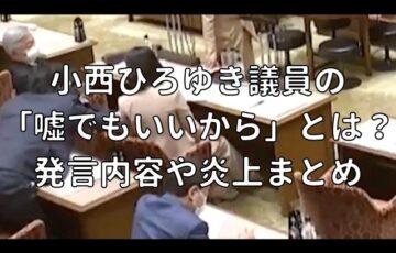 小西ひろゆき議員の 「嘘でもいいから」とは? 発言内容や炎上まとめ